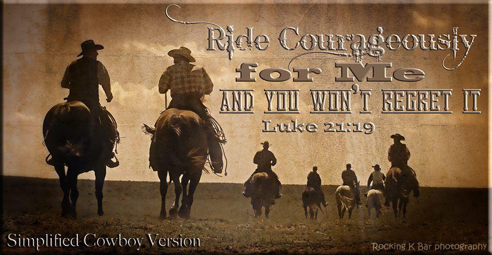 In your patience possess ye your souls. (KJV) Horse