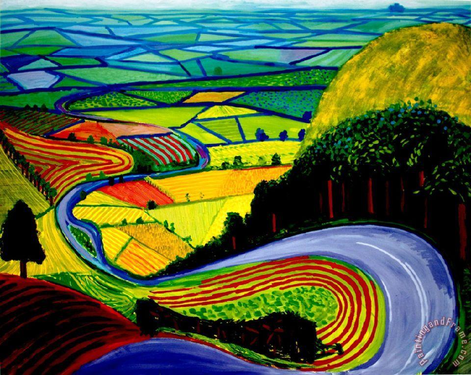 Collection david hockney garrowby hill painting david for David hockney painting