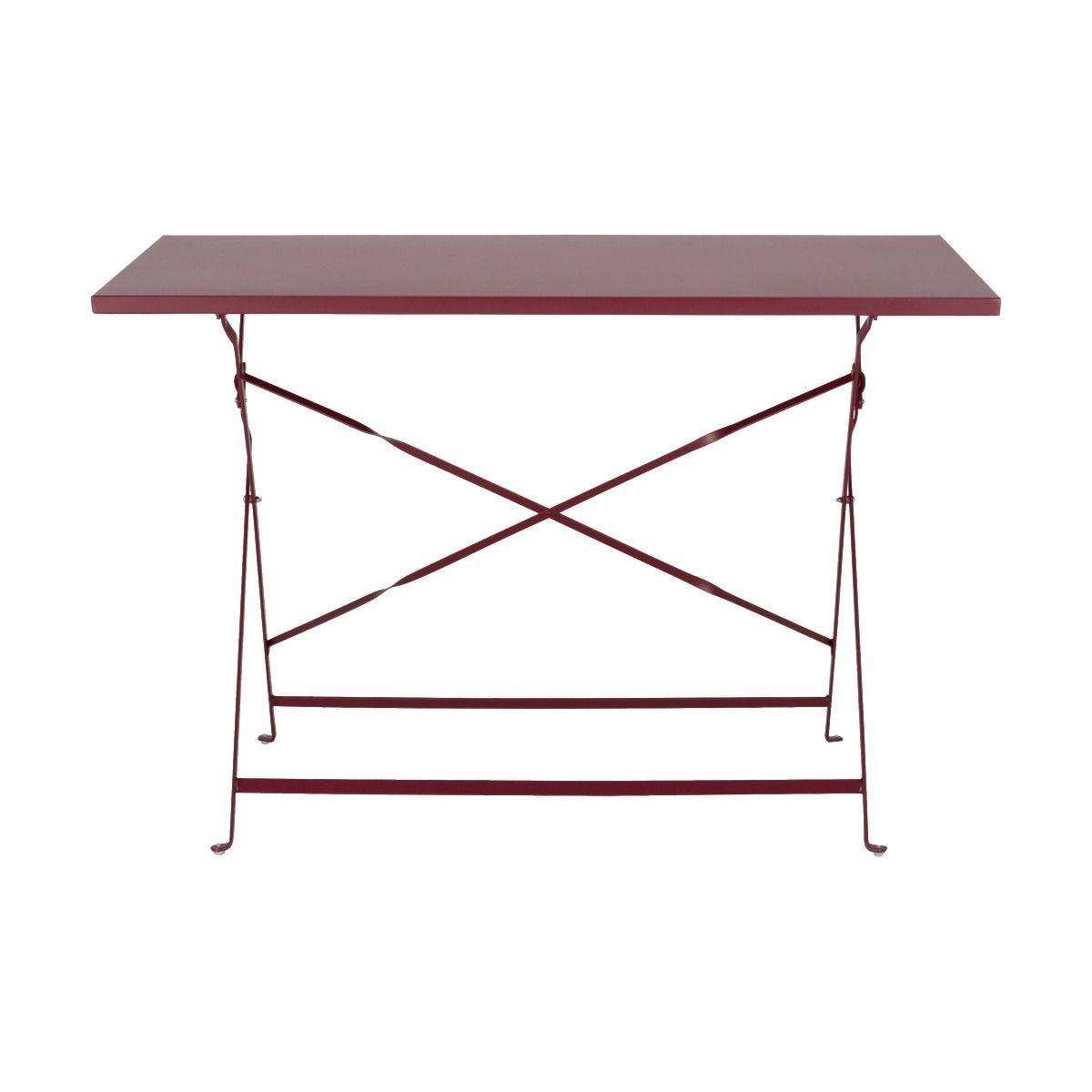 Table De Jardin Pliante Rouge Sumac L110cm 4 Places Cervione