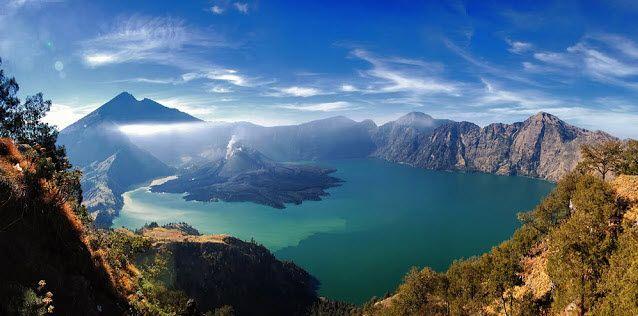 Tempat Wisata Di Pulau Lombok Objek Wisata Menarik Pulau Lombok Pemandangan Gunung Berapi