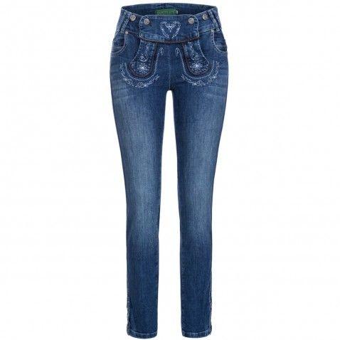 Lange Jeanslederhose Lieschen Blau von Country Line   Trachtenhosen ... aa765202e7