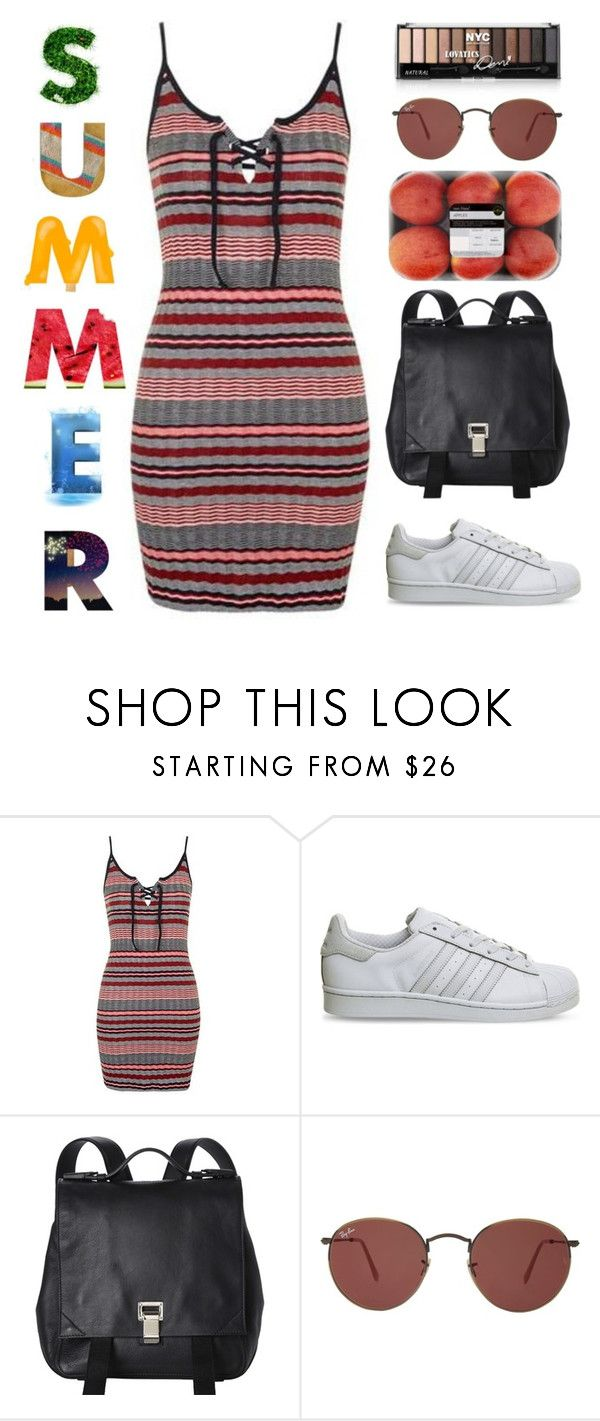 """""""Untitled #1960"""" by danielasilva12 ❤ liked on Polyvore featuring Topshop, adidas, Proenza Schouler and Ray-Ban"""