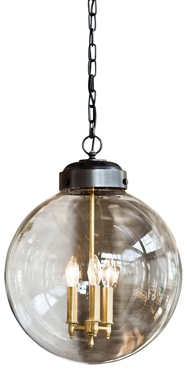 3Bulb Globe Pendant Brass & Bronze  Kitchen  Pinterest  Globe Glamorous Kitchen Light Bulbs Decorating Inspiration