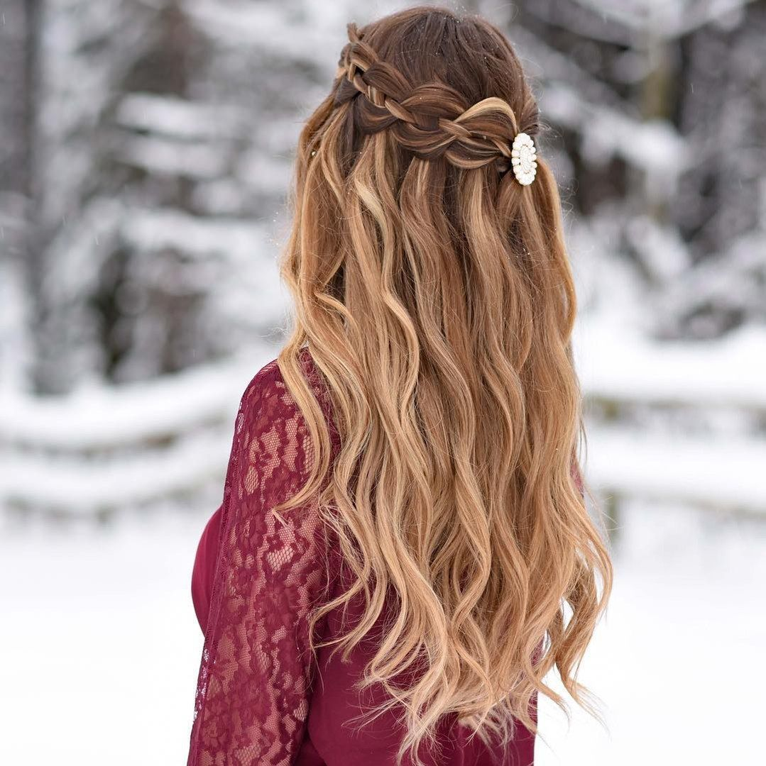 charming and sexy valentineus day hairstyles braided half updo