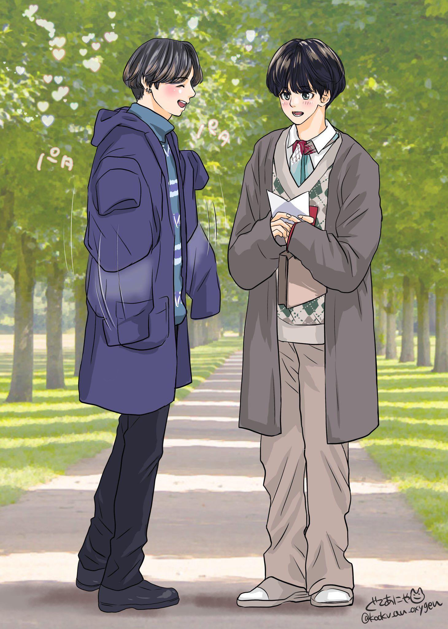 pin by yunho on vkook kookv 2 anime pics oxygen