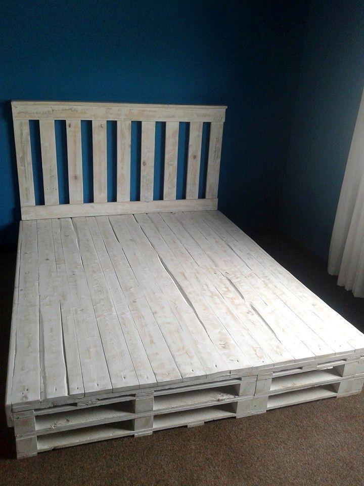 Recycled Pallet Bed Frame 101 Pallets Diy pallet bed