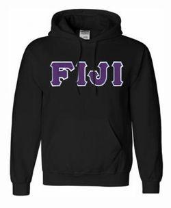 $40 FIJI Lettered Hooded Sweatshirt SALE $40.00. - Greek Clothing and Merchandise - Greek Gear®