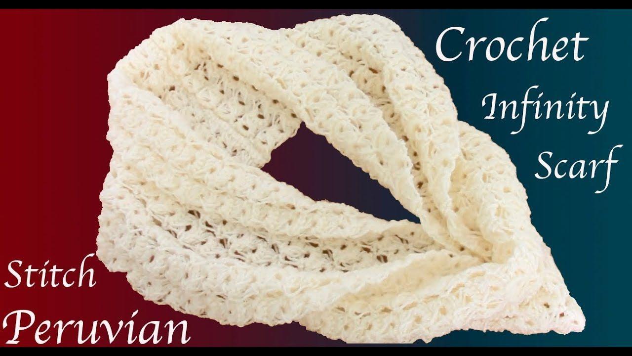 Bufanda a Crochet Punto Peruano tejido tallermanualperu | Cuellos ...