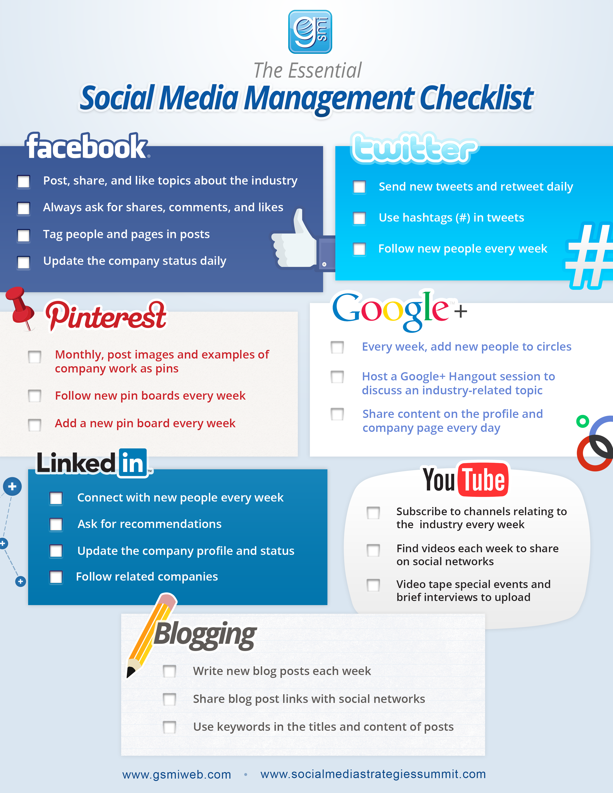 social media checklist - Google Search   Getting Started on