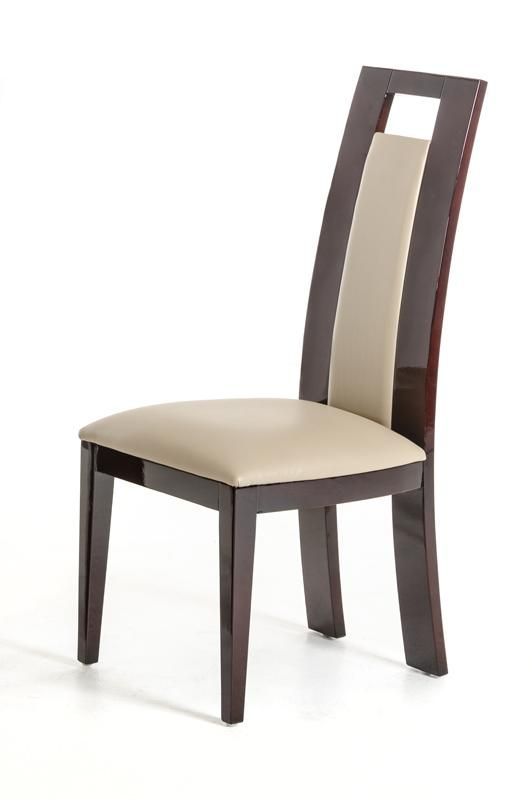 Douglas Modern Ebony And Taupe Dining Chair Set Of 2 Dinning