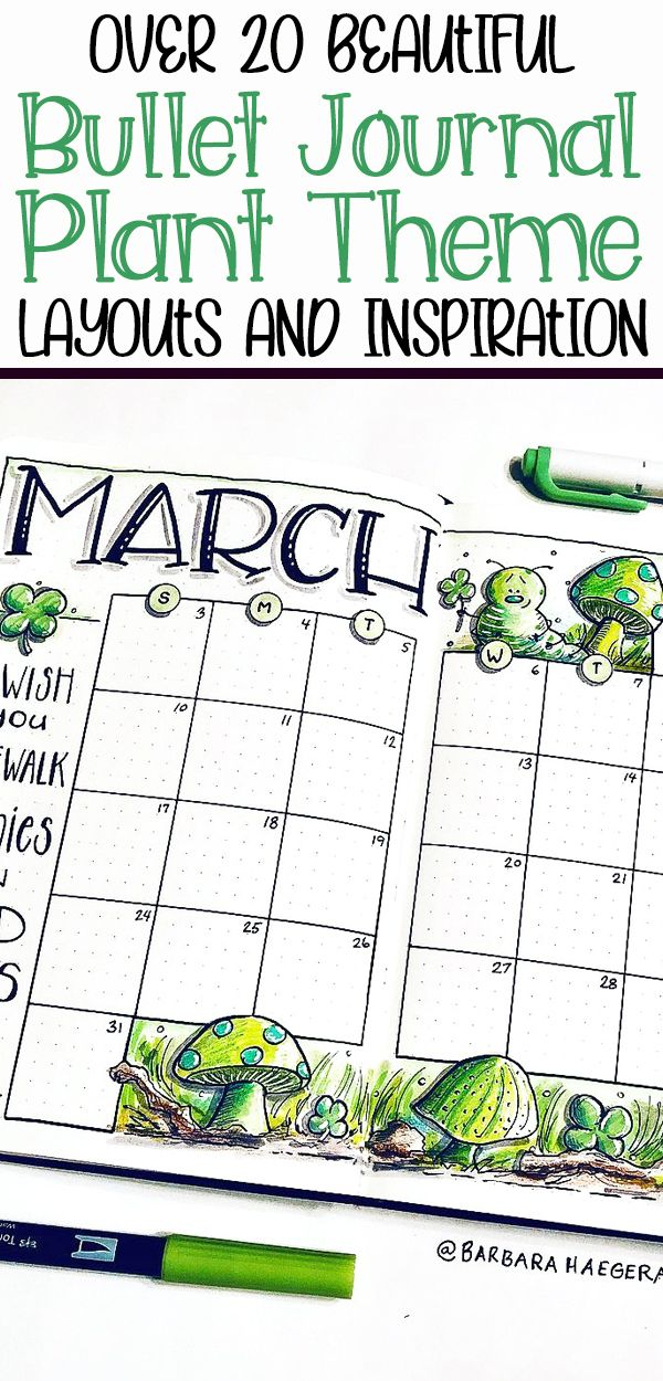26 Bullet Journal Plant Theme Ideas and Inspiration - Planning Mindfully