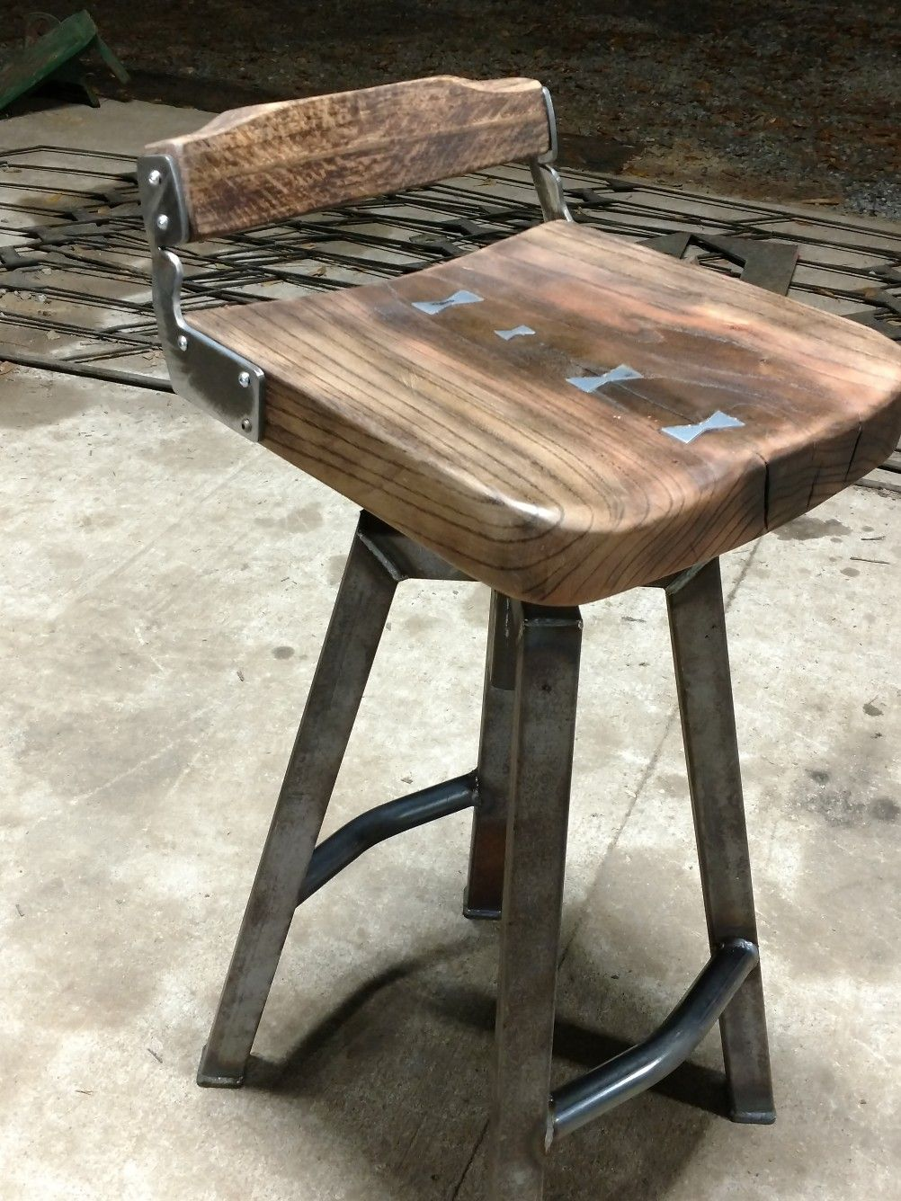 Custom Bar Stool I Built Set Of Three Industrial