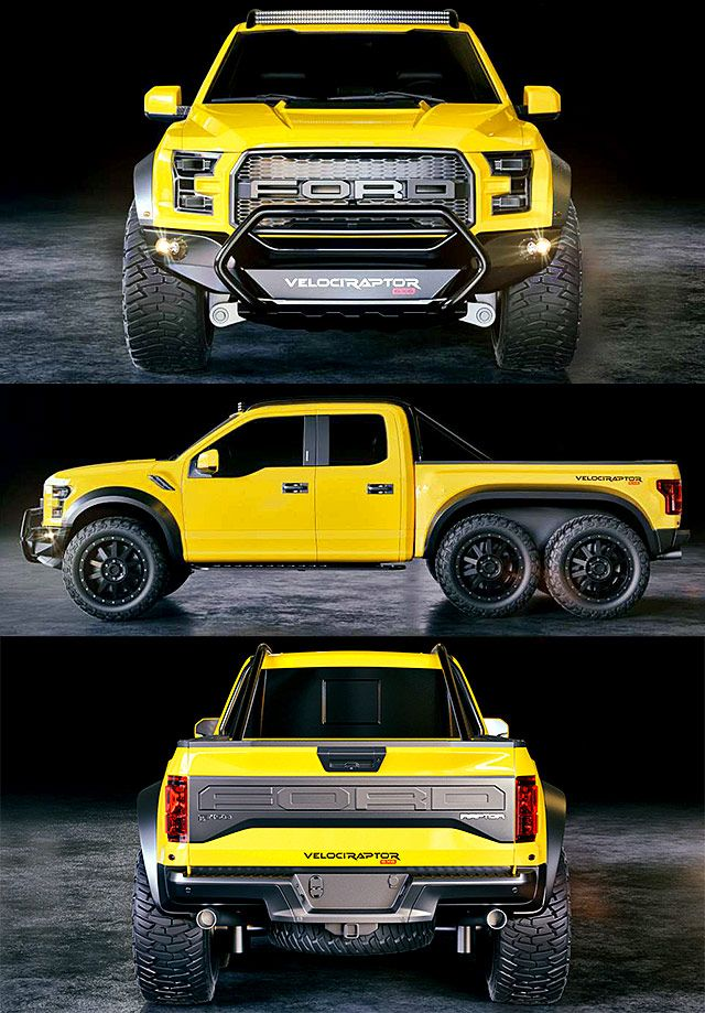 Ford Velociraptor 6x6 For Sale : velociraptor, Hennessey, Velociraptor, Aggression, Wheels, ThrottleXtreme, Trucks,, Raptor,