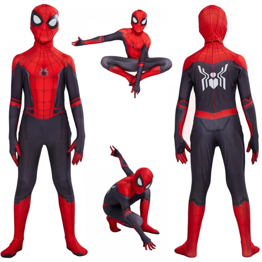 Hot Halloween Spider-Man Far From Home Cosplay Costume Zentai Kids Boys Suit US