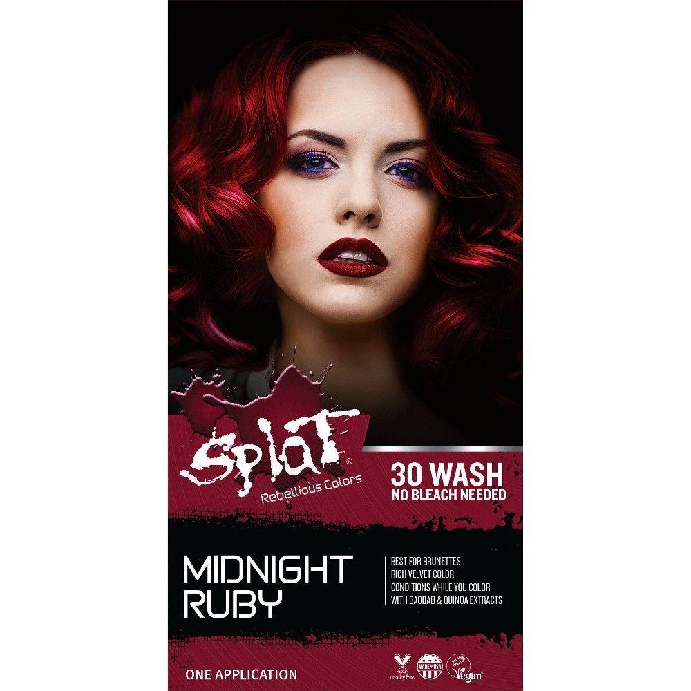 Splat Midnight Hair Color Ruby 6 0 Fl Oz In 2020 Splat Midnight Hair Color Midnight Hair Splat Hair Color
