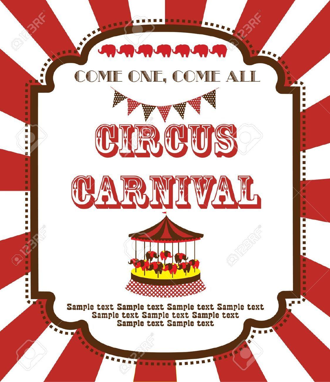 free circus clip art borders Google Search Vintage