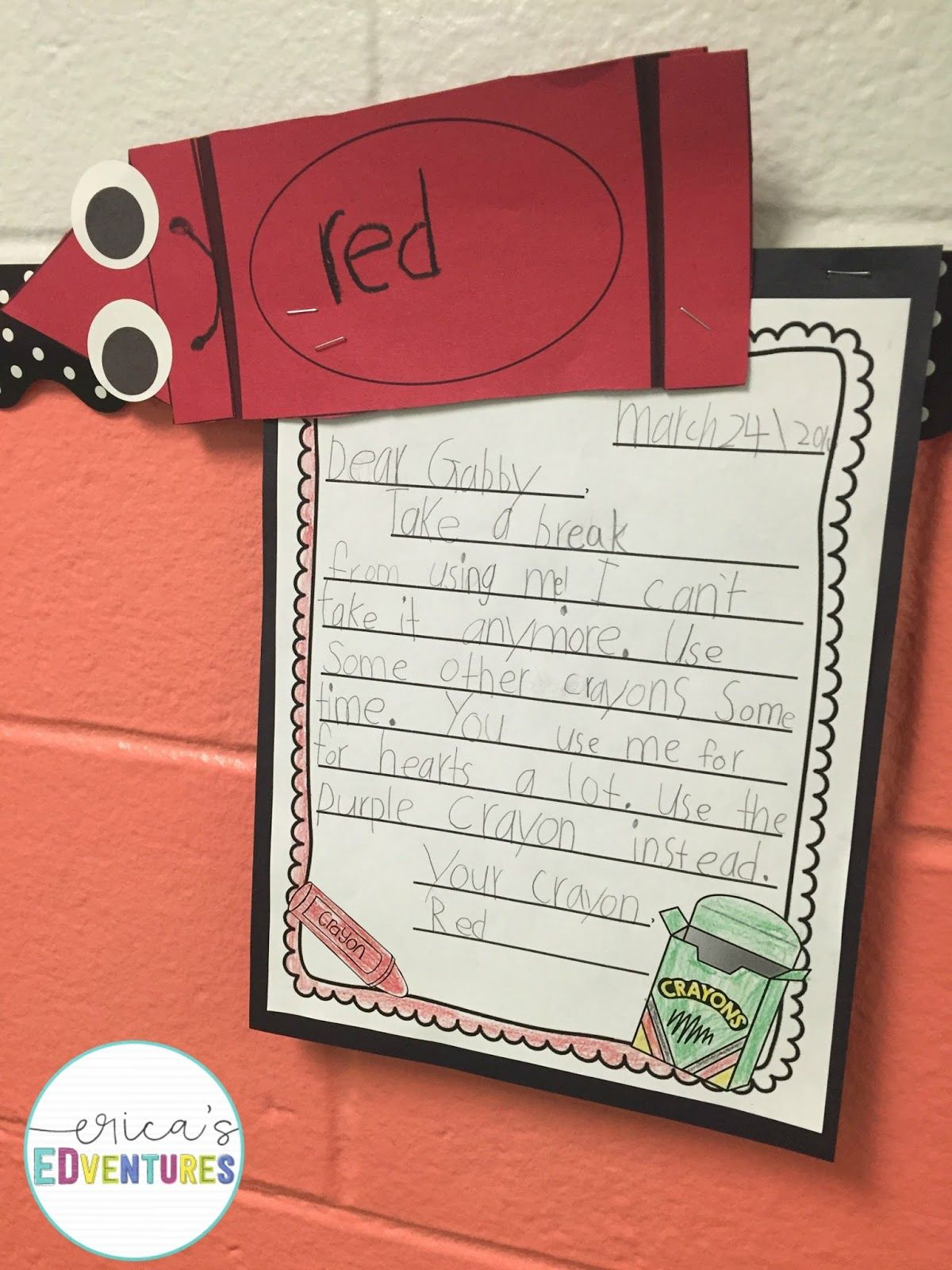 In my first grade classroom we have been working on our letter