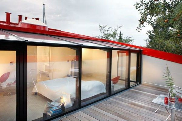 une verri re de toit apportera la lumi re votre maison verriere de toit verri re et chambres. Black Bedroom Furniture Sets. Home Design Ideas