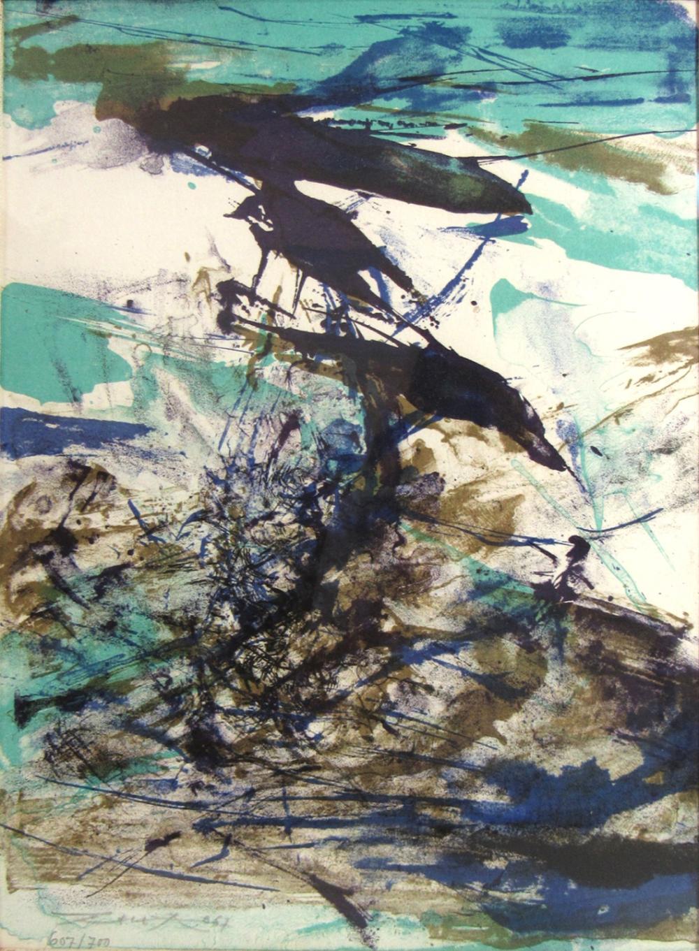 Zao Wou Ki Zhao Wuji France China 1920 2013 Abstract Art