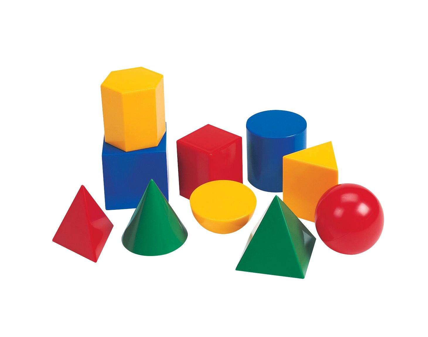 Learning Resources Large Geometric Plastic Shapes Set Of