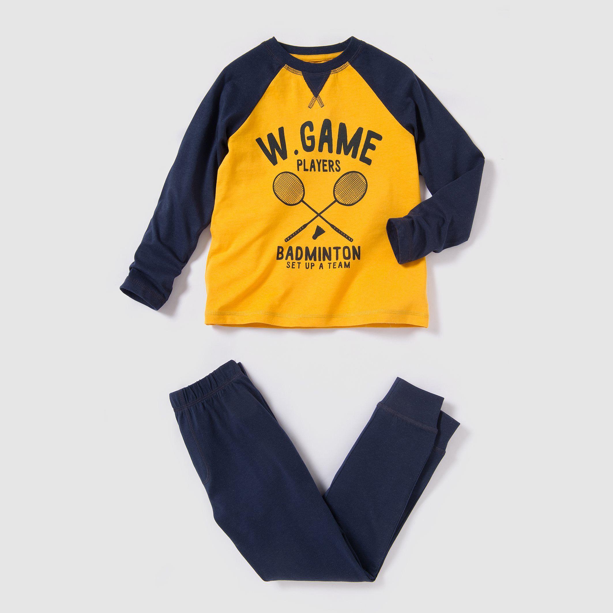 1bf51202e40d2 Pyjama jersey imprimé raquette 2-12 ans Abcd'r   La Redoute   Nuit ...