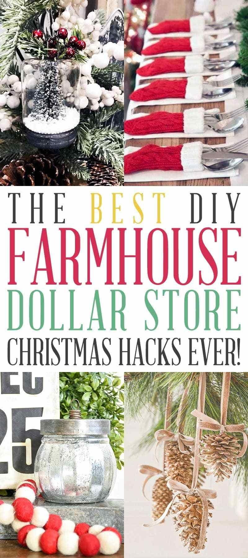 Photo of The Best DIY Farmhouse Dollar Store Christmas Hacks Ever!
