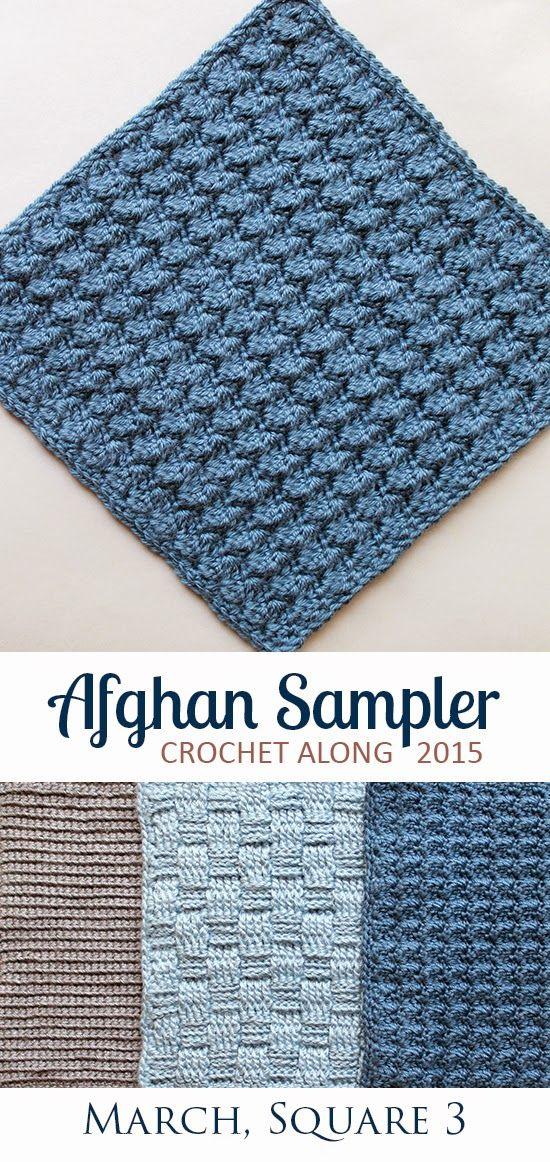 Square 3! Crochet Along Afghan Sampler, March | Manta, Tejido en ...