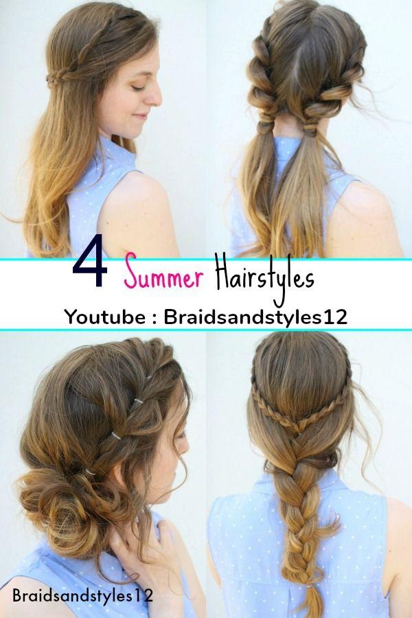 4 Easy Summer Hairstyle Ideas By Braidsandstyles12 Pigtail Hairstyles Braided Hairstyles Messy Bun Hair Hair Styles Easy Summer Hairstyles Summer Hairstyles