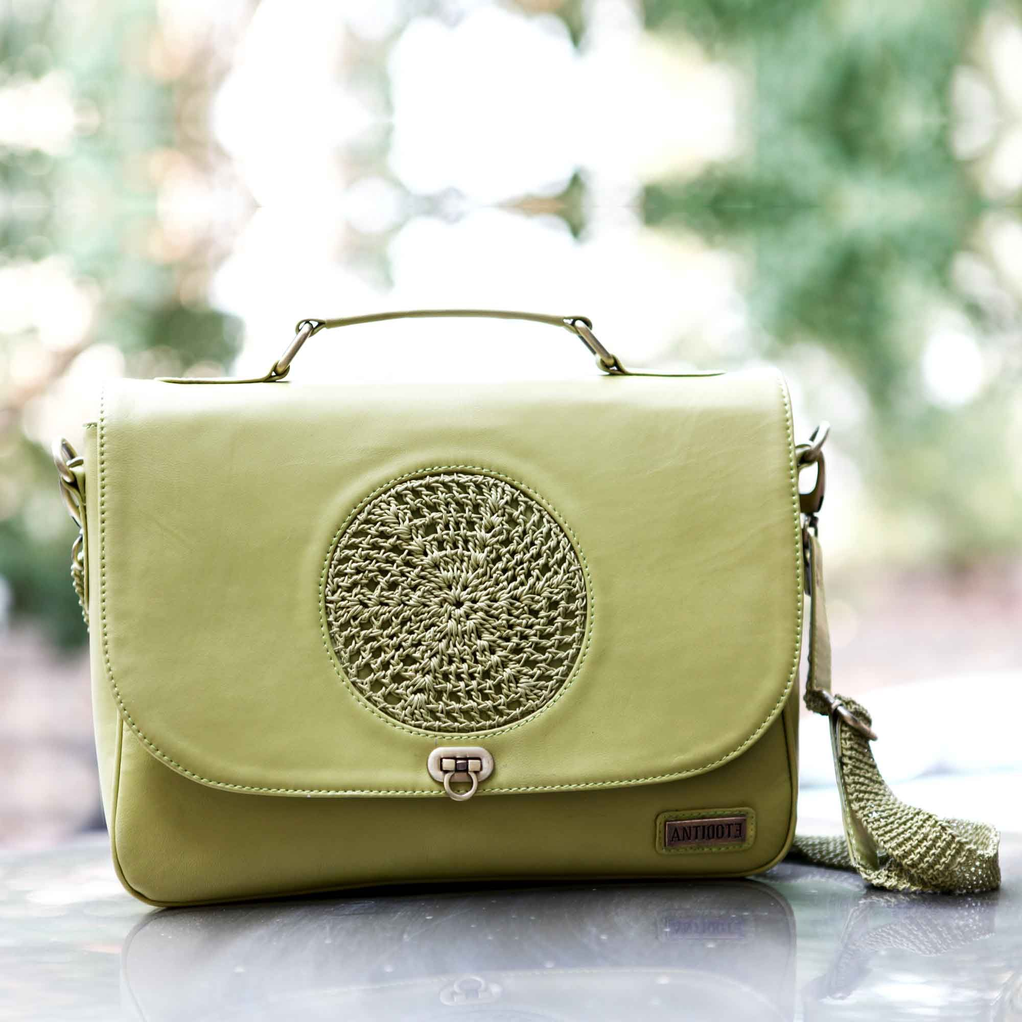 Antidote Mireille Green Leather Handbag #Green #SlingBags #Buckle ...