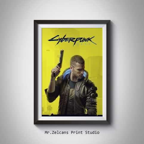 Cyberpunk 2077 Cyberpunk 2077 Poster Keanu Reeves Digital Prints Poster Wall Art Kids Room Decor Gaming Prints Gamer Room In 2020 Kids Room Art Kids Room Wall Art Poster Wall