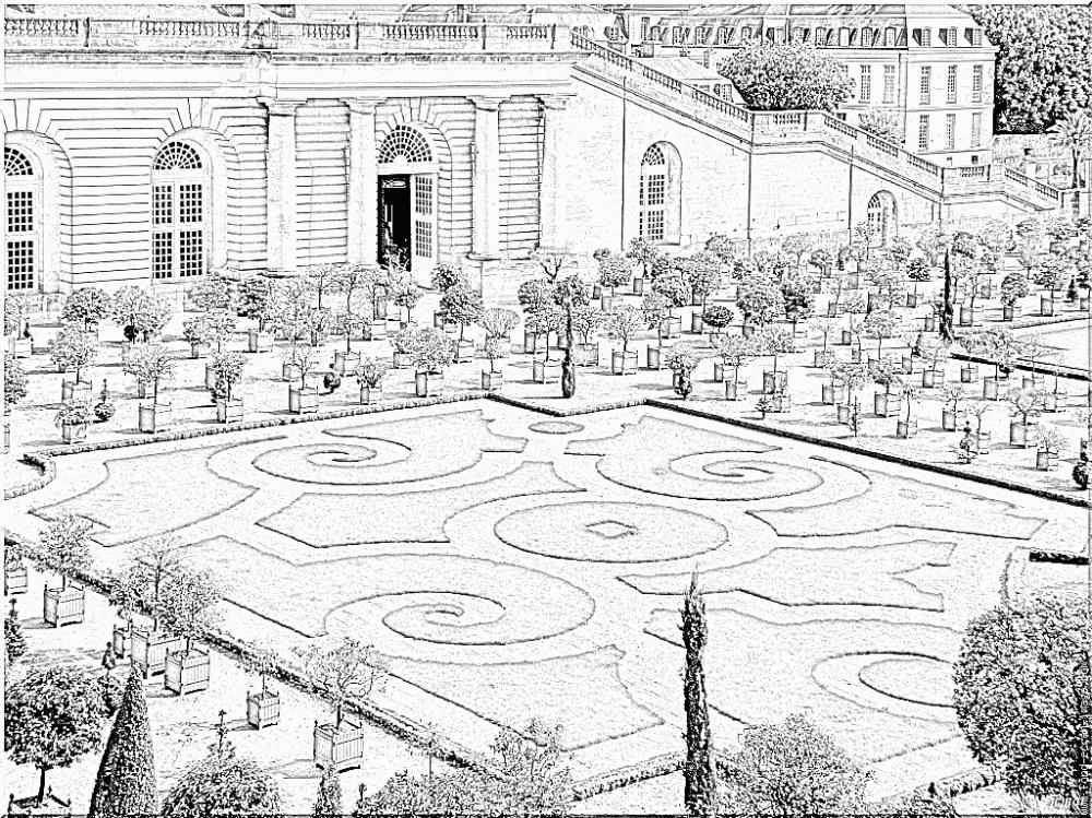 Coloriage Versailles | Coloriage en 2020 | Coloriage ...