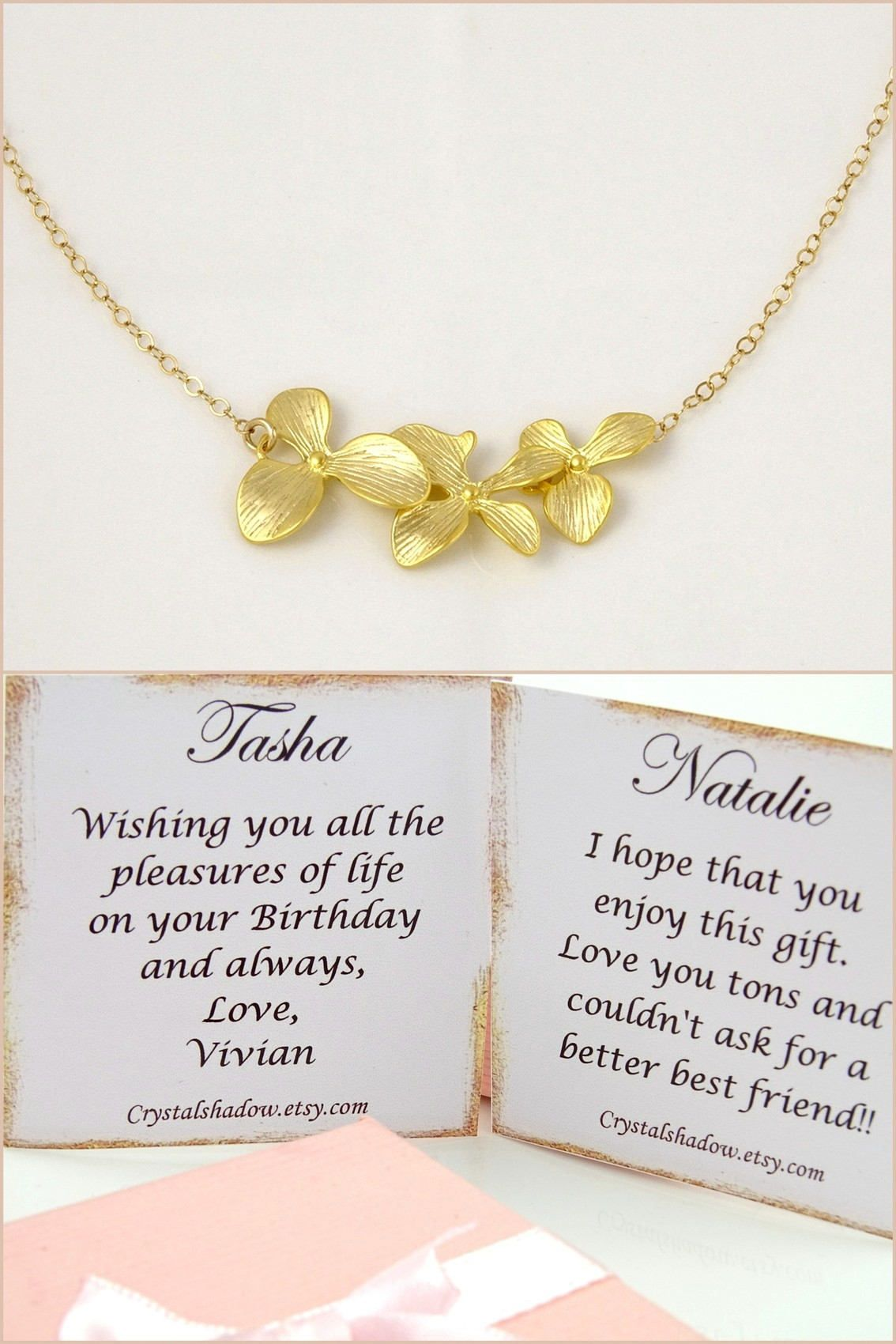 Gold Necklace For Wedding Jewelry For Bridesmaids Gifts For All Occasions Romantic Gifts F Romantic Gifts For Her Bridesmaid Gifts Anniversary Wishes For Wife
