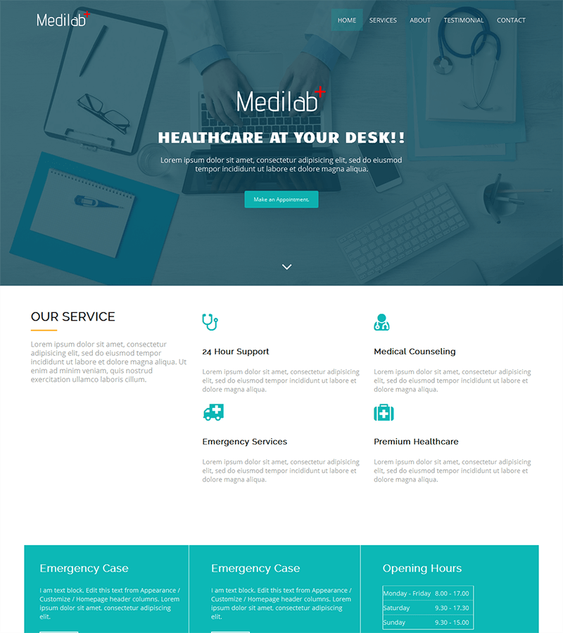 Website Templates Medilab Is A Clean Free Responsive Bootstrap Template Perfect