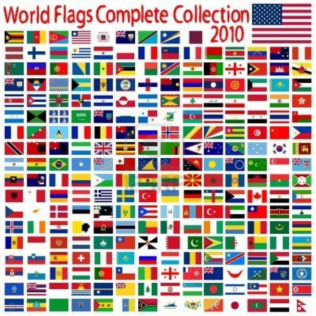 Wereld Vlaggen Collectie Abstracte Kunst Illustratie Abstracte Kunst Vlaggen Illustratie