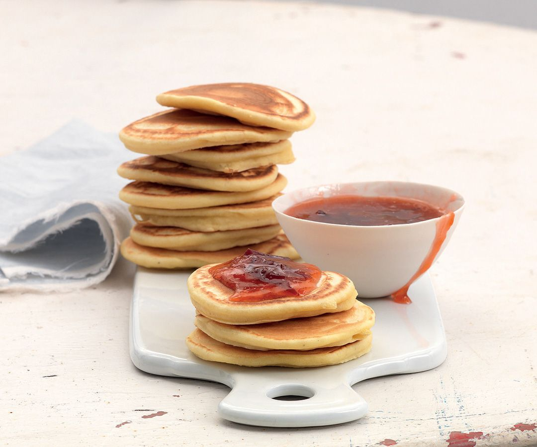 Pancake al farro e composta di prugne