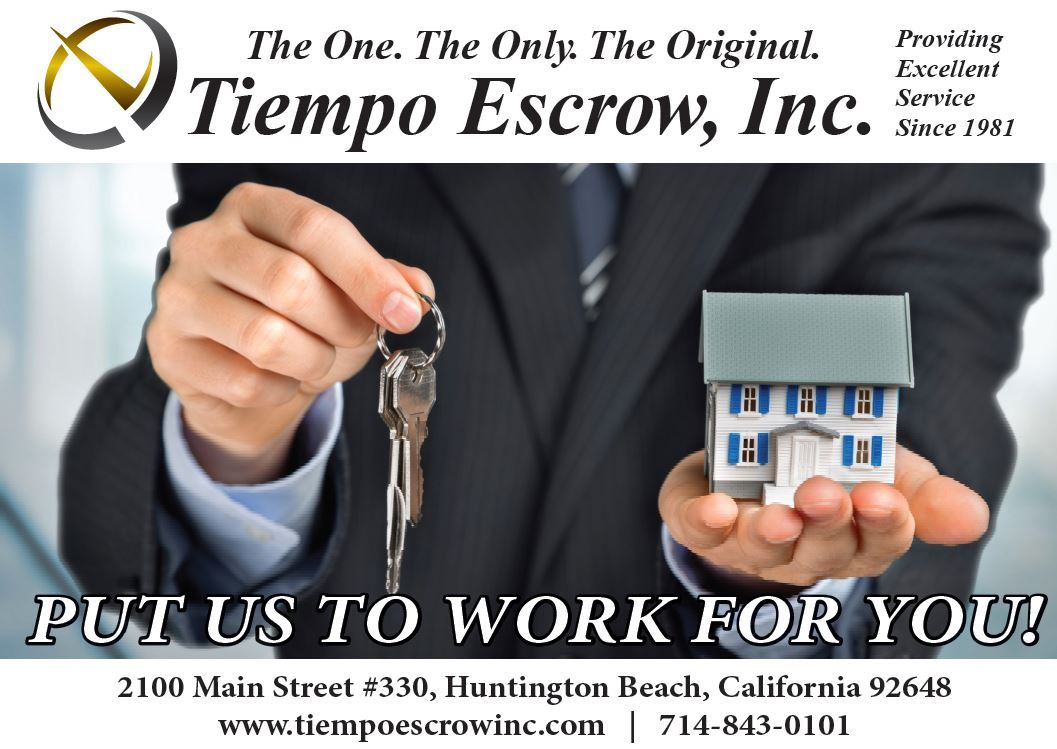 Customer service is the key to success. That's why Tiempo Escrow has long lasting relationships with agents since 1981.