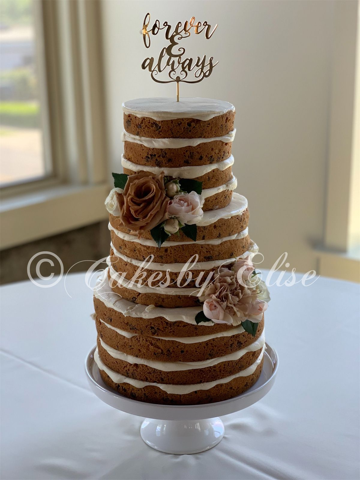 Three Tiered Chocolate Chip Wedding Cookie Cake Tiered Cookie
