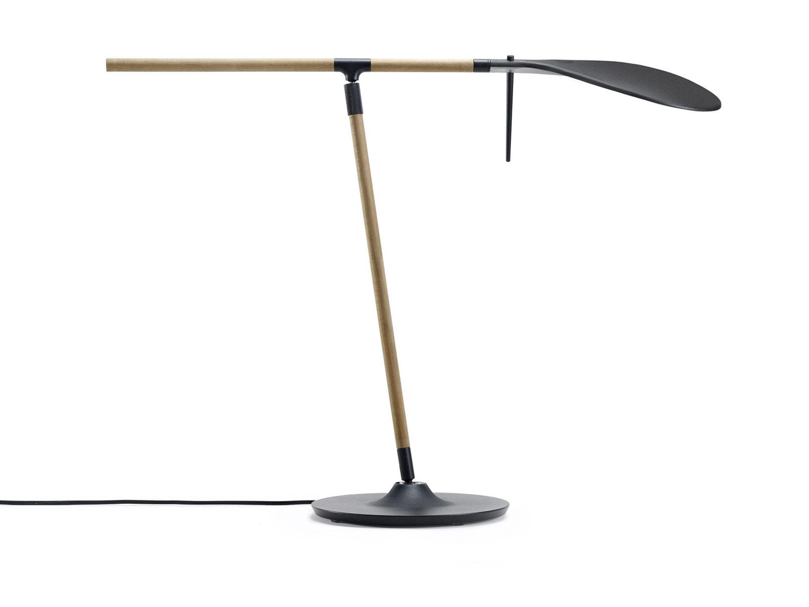 Benjamin Hubert UK, Paddle, Ash and cast aluminium 360 degree lamp