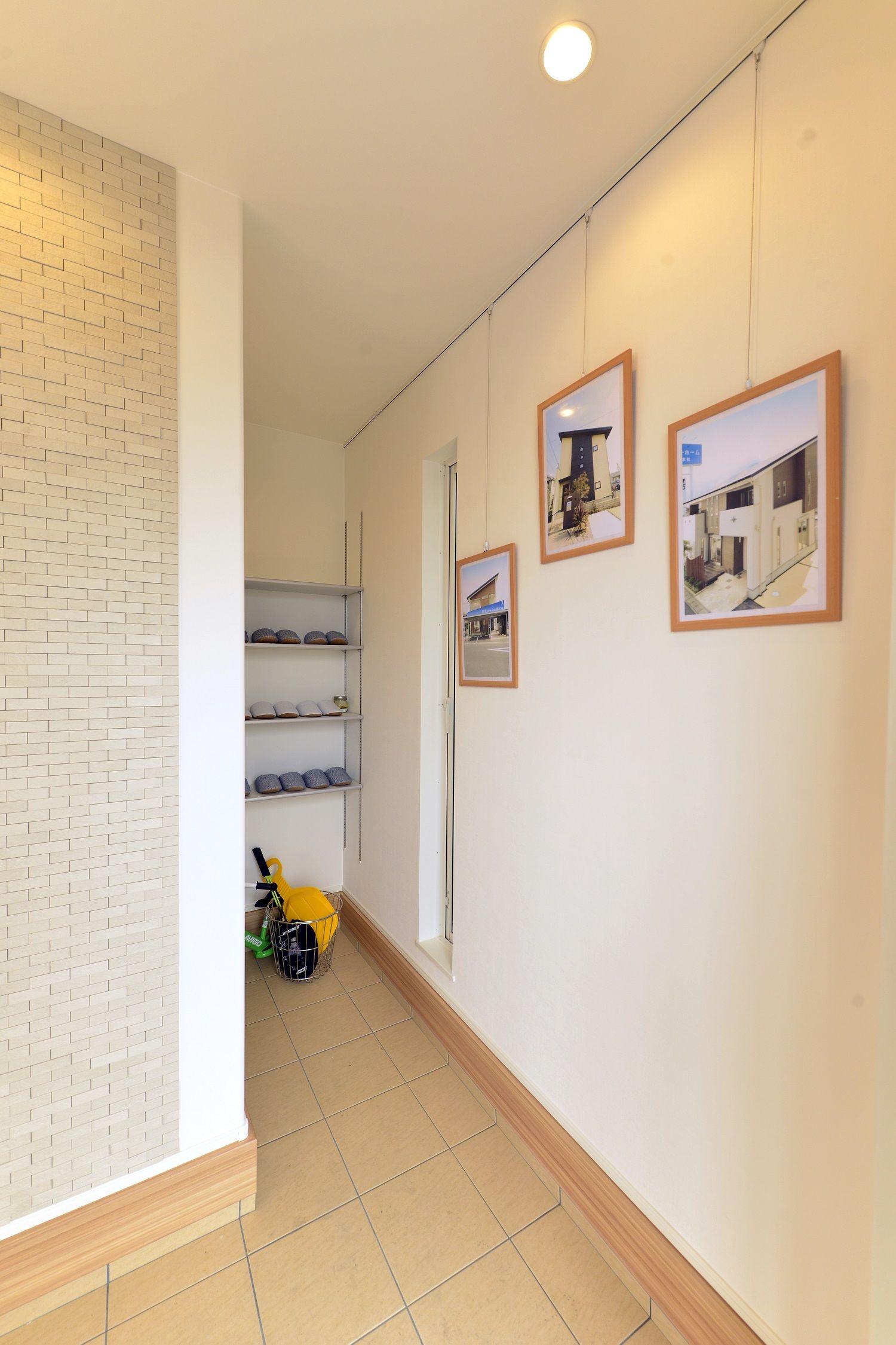 ヘルシーホーム 岡山西展示場 モデルハウス ピクチャーレールで写真を