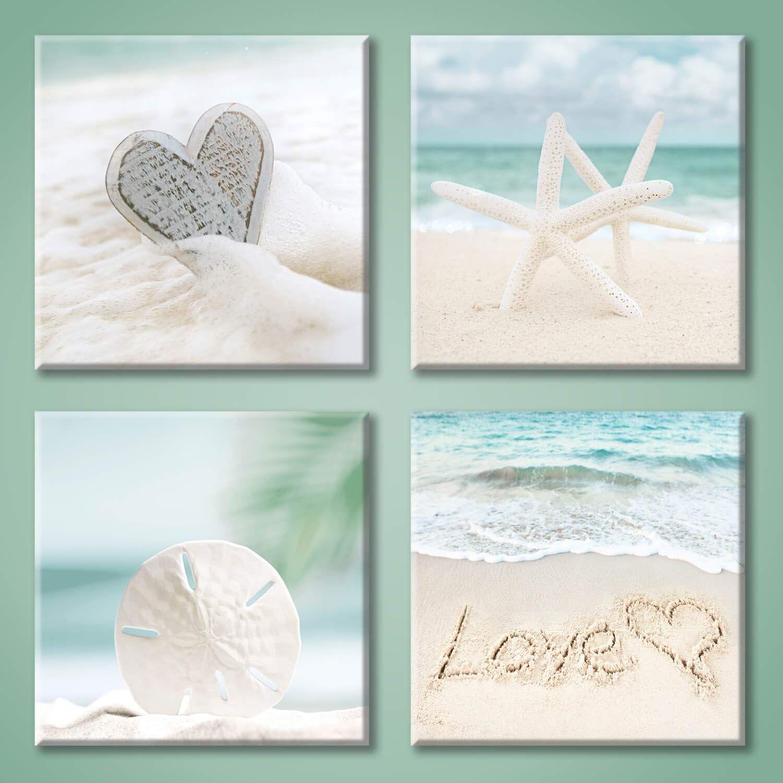 Amazon Com Aqua Beach Seashell Pictures Artwork Love Starfish