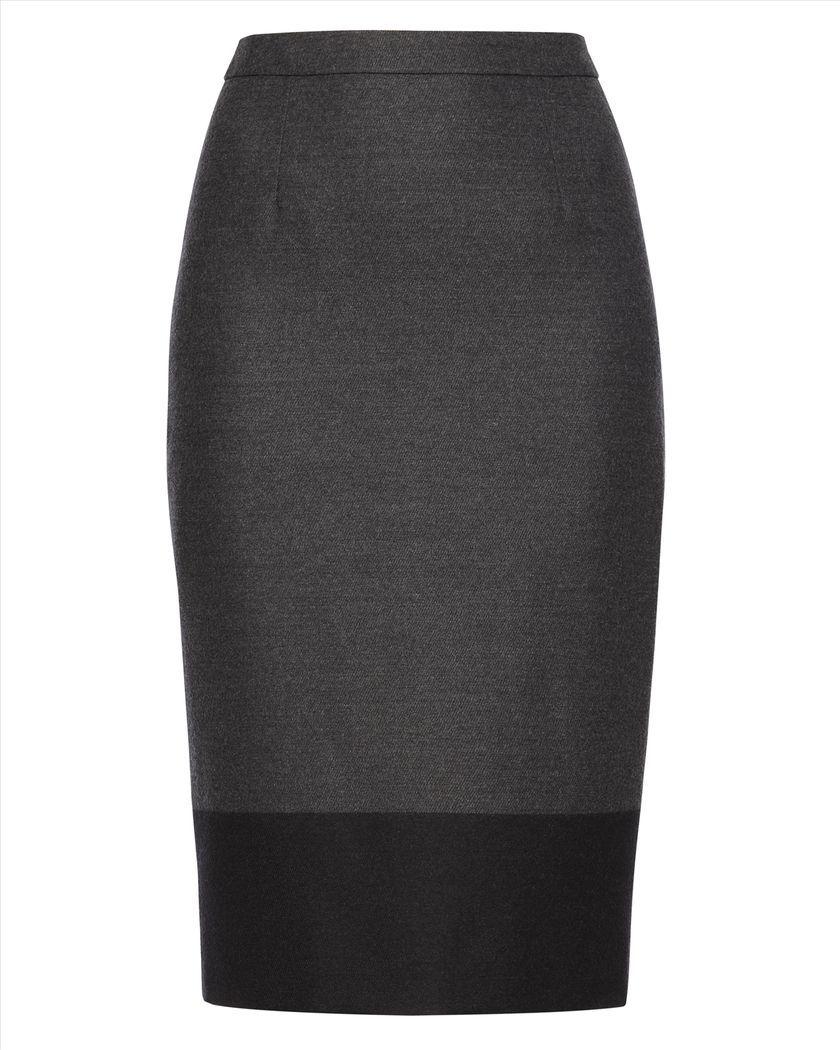 Wool Colour Block Skirt