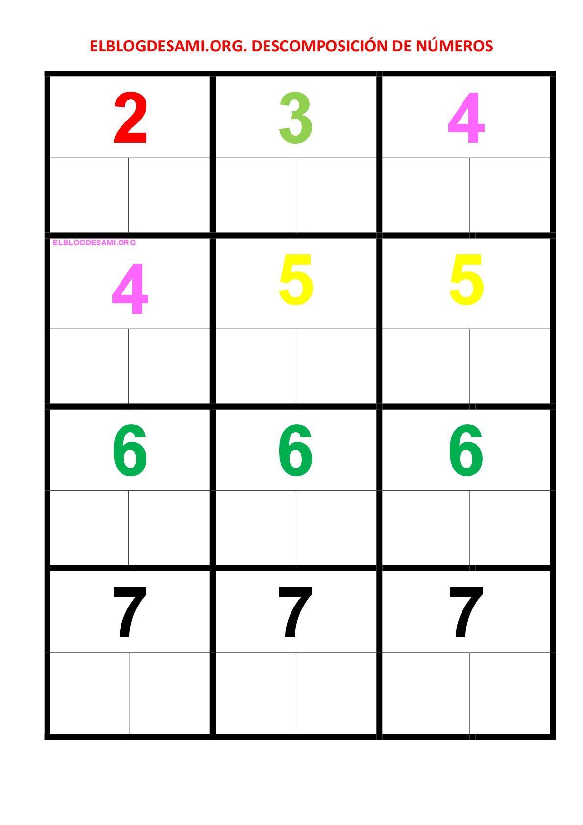 Objetivo S Identificar Los Números Reconocer El Concepto