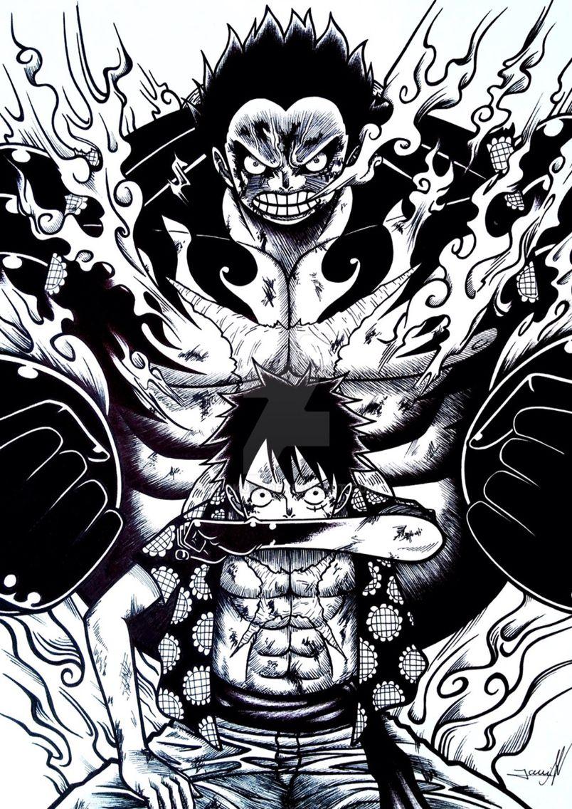 Luffy Gear 4 Luffy Onepiece Anime One Piece Dessin Manga One Piece Manga