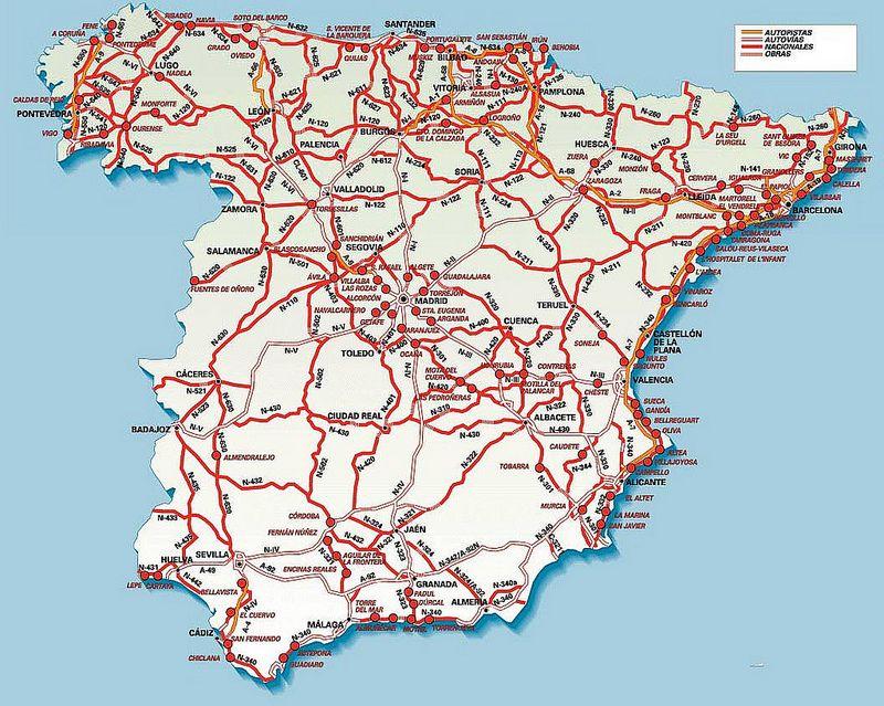 mapa de estradas de espanha e portugal Mapas de Espanha | Portugal mapa de estradas de espanha e portugal
