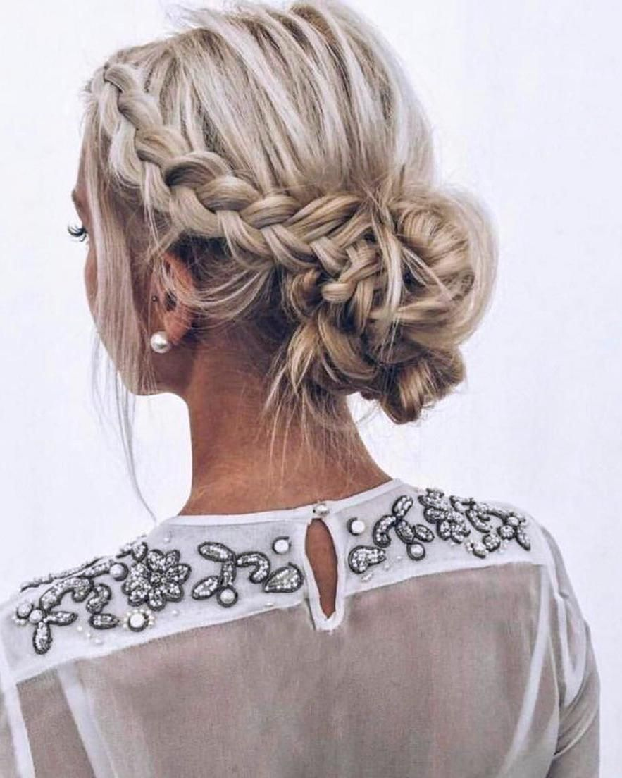Elegant Prom Updo Wedding Hairstyles for Medium length Hair