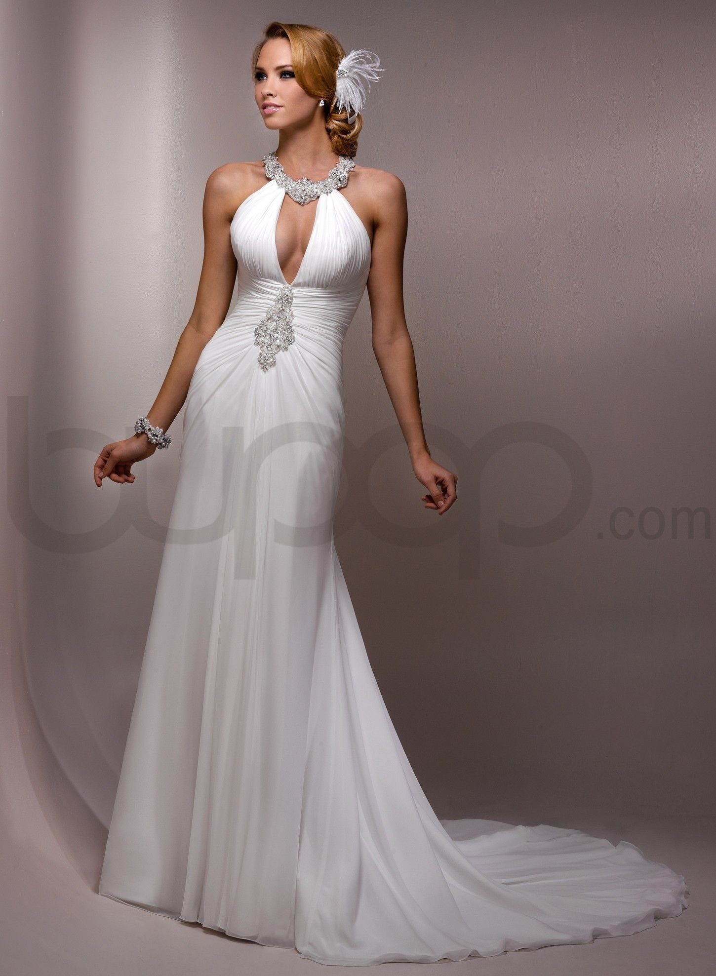 Gorgeous Scoop A Line Chapel Train Bridal Gowns Love It Maggie Sottero Electra This Was My Gown