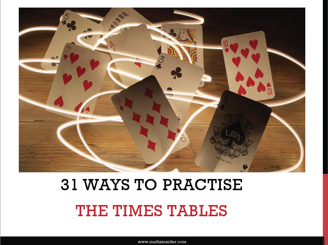 31 Ways To Practise The Times Tables
