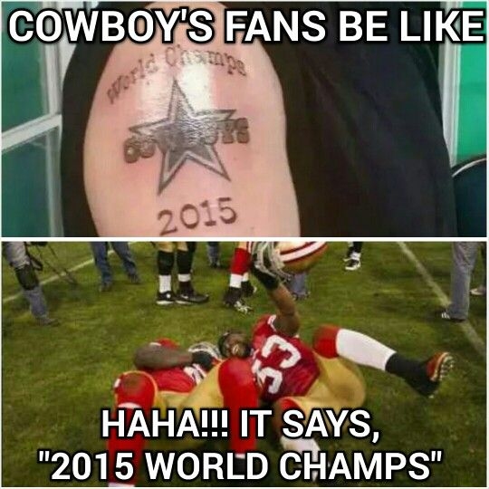 Lmfao Cowboys fans be like...  Delusional