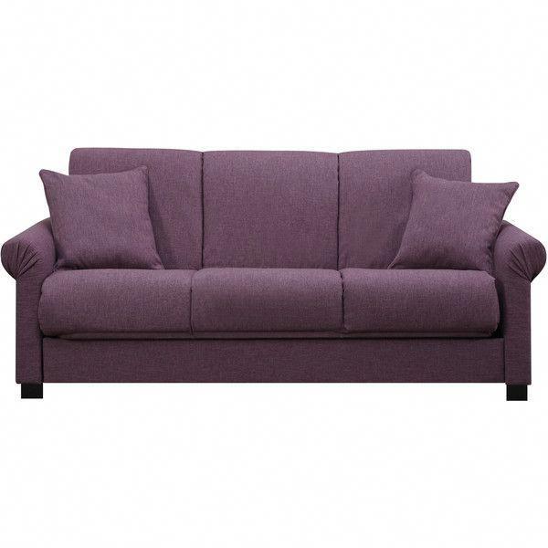 Portfolio Rio Convert A Couch Amethyst Purple Linen Futon Sofa