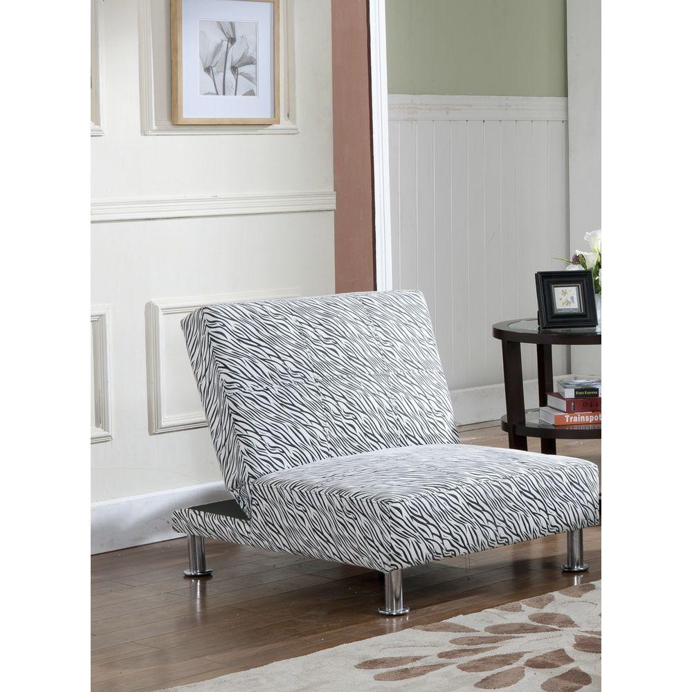 K and B Furniture Co Inc Klik-Klak Zebra Print Two-position Chair ...